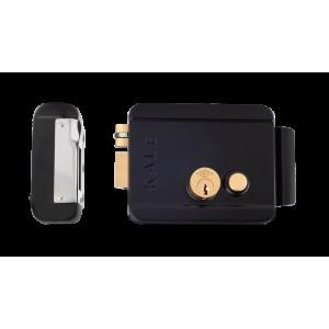 357 MD - Замок накладной электромеханический для деревянных и легких металлических дверей. С кнопкой.